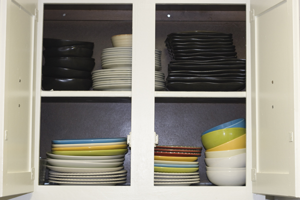 Cupboard full of crockery