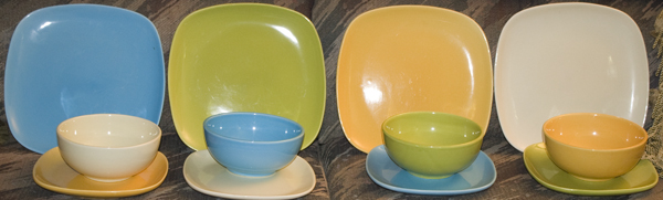 Colorful set of crockery